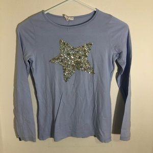 Girls J. Crew Long Sleeve Star Shirt Size 12